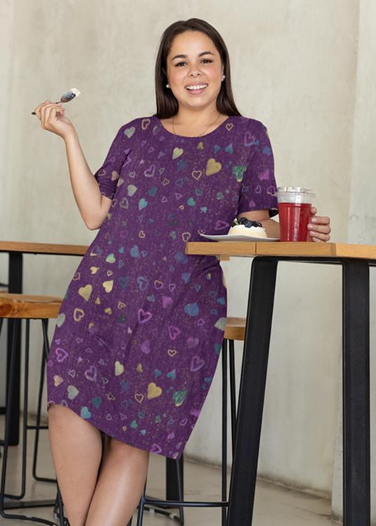 IHeart Purple Dress